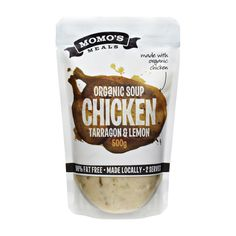 Momo's Meals Packaging Artwork on Behance #soup #pouch #chicken