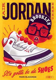 Air Jordan III art print #jordan #air #retro #nike #vintage #poster