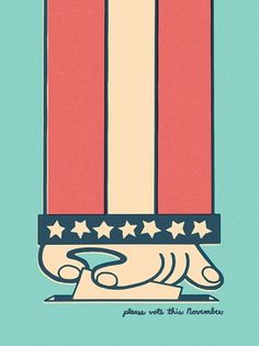 CORY LOVEN #cory #design #illustration #vote #poster #loven