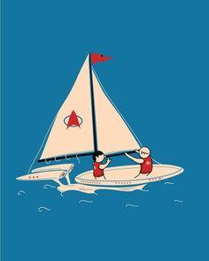 FFFFOUND! #illustration #boat