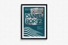 Neu Klub / Daniel Bortz Poster #party #fly #poster #blue #collage #moon