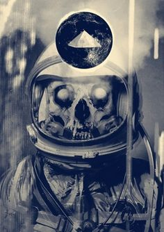 The Fox Is Black #skull #space