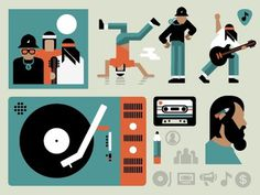 Music #vector #run #orange #icons #music #dmc