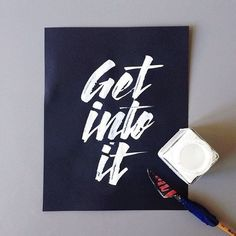 Get into it by Andreas M Hansen #font