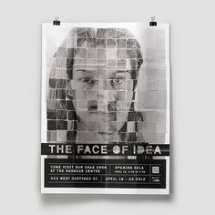 Markus Wreland Graphic Design » Grad Show Concept #grad #design #markus #poster #show #face #wreland #typography
