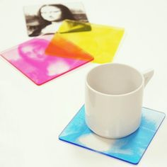 CMYK Color Print Coasters #tech #flow #gadget #gift #ideas #cool