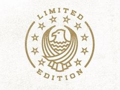 Dribbble - Limited Edition Stamp by Alex Rinker #badge #emblem #seal #logo #typography