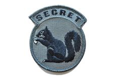 MSM Secret Squirrel Velcro Milspec Monkey Morale Patch #squirrel