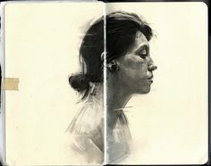 Graphite Portraits of Friends by Thomas CianJanuary 8, 2014 #illustration #portrait #sketch #sketchbook