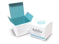 dahliabox.jpg (800×596) #boxdesign #skincare #packaging #dahlia #box #concept #joy #tiffanyblue #beauty