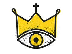 yellow king #halftone #logo