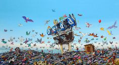 Post Apocalyptic Disneyland Paintings by Jeff Gillette