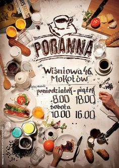 Poster Poranna #photo #cafe #poster #morning #homemade