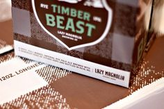 Lazy Magnolia Timber Beast Packaging #packaging #beer #label #bottle