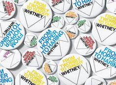 Whitney Logo and Identity #whitney #identity #experimental #jetset