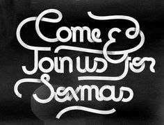 Squint Opera Xmas #lettering #grey #type #hand #shadow