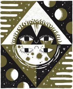 Small-Talk-Studio-Sun-Moon-Print #un #moon