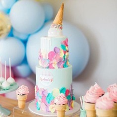 Birthday party cake & decor pics