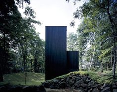 House in Mt. Fuji #black #wood #architecture #houses #facades