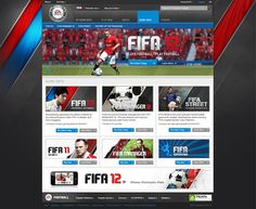 EA SPORTS FIFA 12 on Web Design Served #red #sleek #sea #blue #web