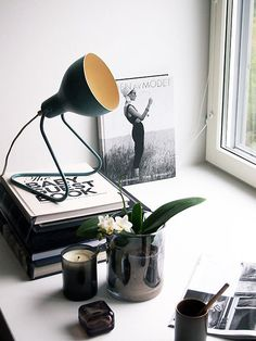 desk vignette #interior #design #decor #deco #light #decoration