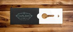 This Is Work   P. Eggleston #branding #card #print #concept #key #hotel #typography