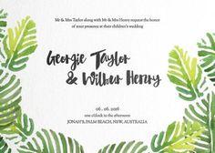 Palmy - Wedding Invitations #paperlust #weddinginvitation #weddinginspiration #invitation #cards #paper #design #print #digitalcard #letter