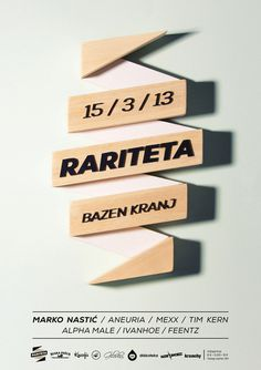 www.ljubobratina.com #design #typography #poster #music #wood #photography #hand made #electronic music
