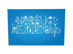 Happy Holidays #holidays #happy #card #christmas #illustration #type #typography