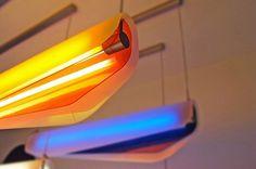 christian vivanco: algae #interior #design #orange #lighting #blue