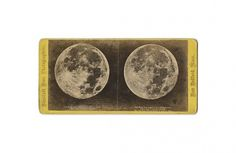 ON SALE TODAY / Antique Stereograph Photograph of a by diabolus #stereograph #antique #moon