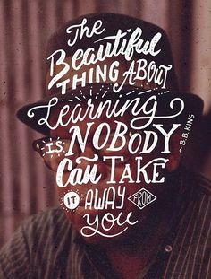 Learning by Ian Barnard #quote #typography