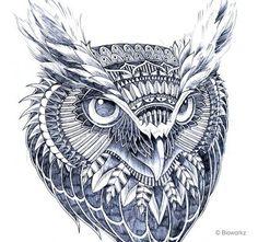 Decorated animals by Bioworkz Photo 1 | Image courtesy of Bioworkz #owl