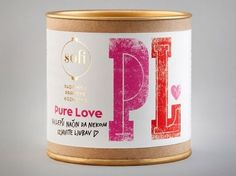 Sofi Bath Bombs | Lovely Package #white #red #tins #packaging #pink #gold #blue #typography