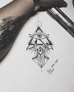 Mandala Horus eye // Designed by BenZ.Tattoo Design