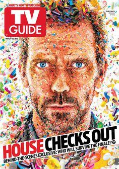 Editorial Illustrations 2011-2012 on Behance by Charis Tsevis. #drhouse #guide #cover #illustration #tv #magazine