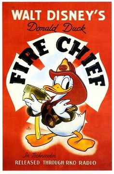 All sizes | Fire Chief 1940 | Flickr - Photo Sharing! #disney #poster #donald