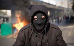 Protest spreads in the Middle East - The Big Picture - Boston.com #protest #photography #mask