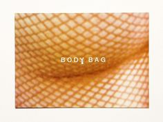 Body Bag on the Behance Network #packaging #bodybag