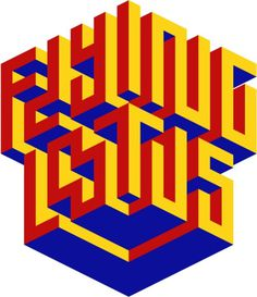 Typeverything.com Isometric Flying Lotus by Maxim Ticta. #flying #lotus #typography