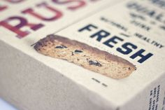 100% Muesli Rusks Packaging on the Behance Network #packaging #cookies #food