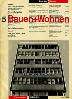 Bauen+Wohnen: Volume 03, Issue 05 | Flickr - Photo Sharing! #swiss #design #graphic #cover #grid #bauen+wohren #magazine #typography