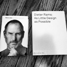 The two best books I own #steve #print #design #books #jobs #product #industrial #photography #rams #phaidon #dieter