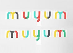 Muyum identidad coporativa para marca de comida para nixc3xb1os. Branding identity for children brand, food for kids. Designed by Tatabi