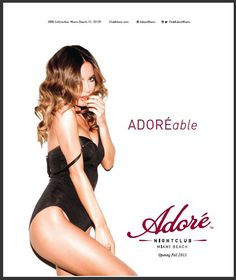 Adore Nightclub Miami #nightclube #whyworkshop #branding #advertising