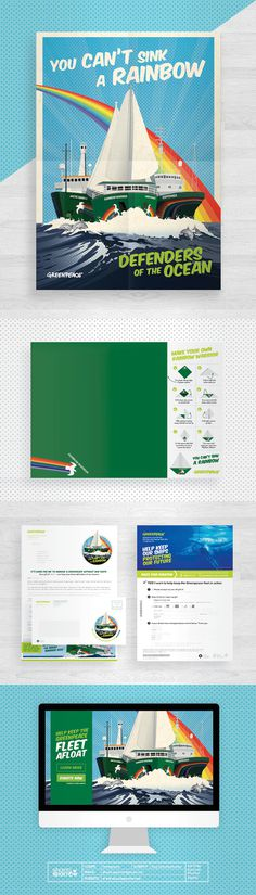 Design by Shanti Sparrow Client: Greenpeace Project Name: Rainbow Warrior Appeal www.shantisparrow.com #Design #graphicdesign #illustration