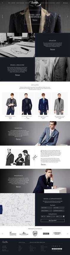 Concept design for Charlie Allen #website #homepage #webdesign #bespoke #tailoring #retail #ecommerce #suits