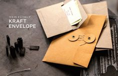 The Journal Shop | Kraft Envelopes #design #envelope #kraft