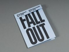 Fall Out — Node Berlin #cover #brochure #typography