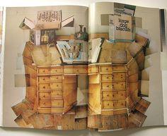 Wary Meyers: David Hockney, Vogue Paris 1985 #design #graphic